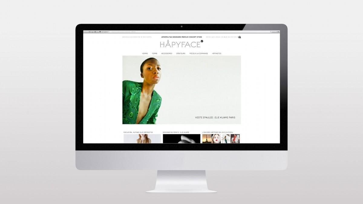 hapyface identité de marque direction artistique franck magné