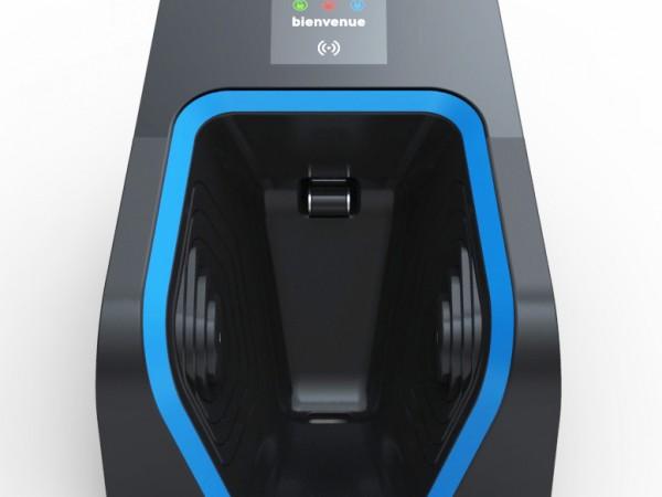 design franck magné station de recharge électrique mobilier urbain innovant