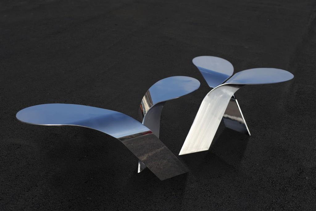 herbes folles. assises banc public. Design Franck Magné pour Objets Publics