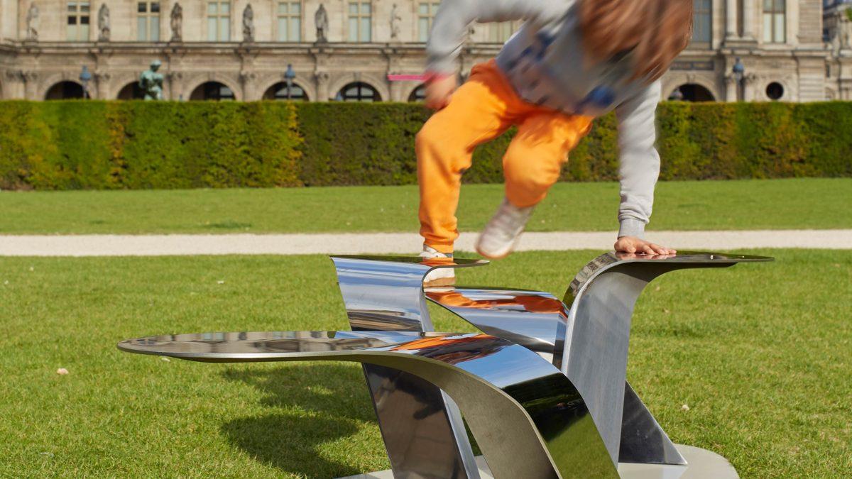 design Franck Magné banc public design Herbes folles le louvre days paris
